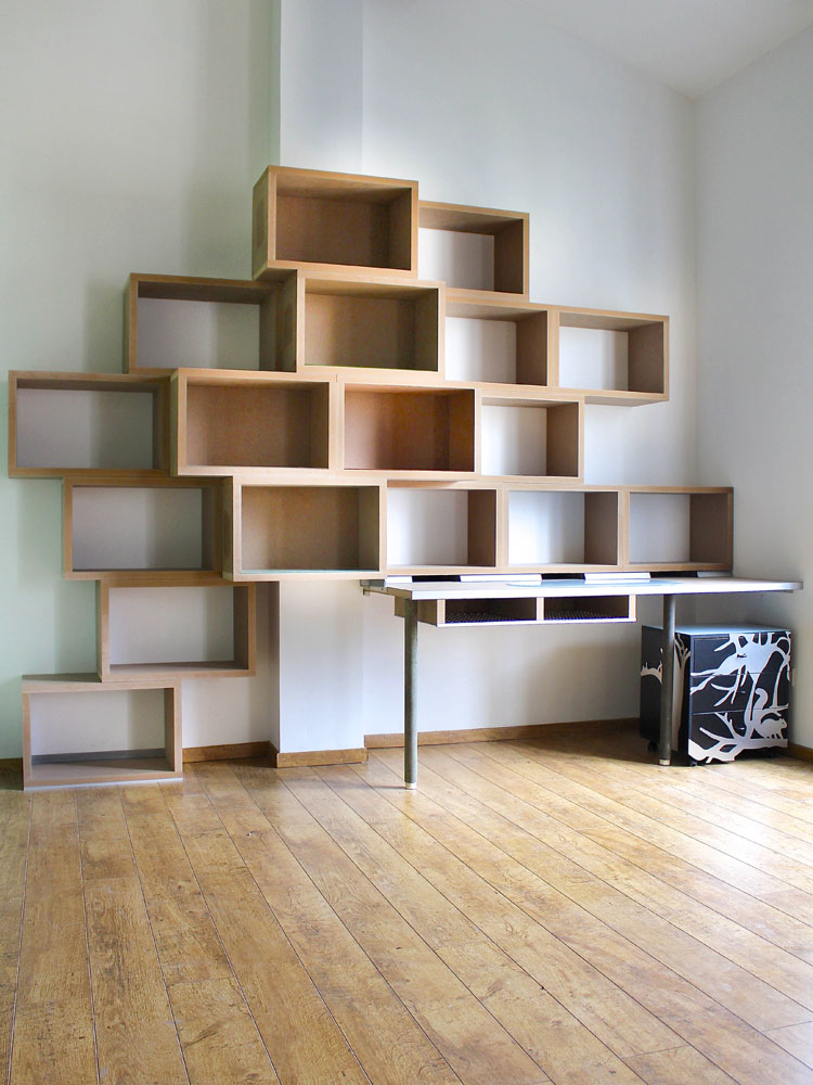 Biblioth que bureau variation 17 design claude jouany for Bureau bibliotheque