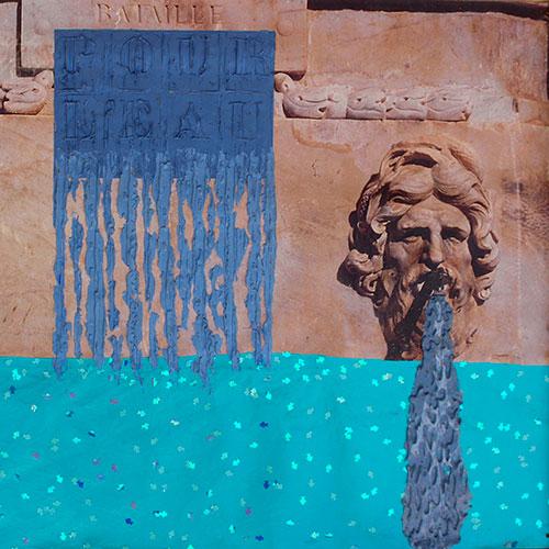 Changement climatique Baches peintes Claude Jouany Artiste Plasticien Montpellier 001