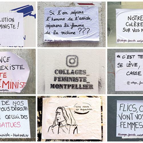 """Panneau d'association photographique """"Journée des femmes"""" Montpellier 2020"""